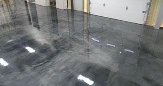 metallic epoxy garage